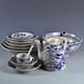 手繪青花餐具套裝高足碗湯面碗擺臺前廳后廚特色餐具