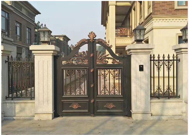 咨询:河南平顶山欧式铝艺大门铝合金阳台护栏厂家