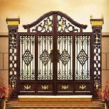 赤峰乌拉特前旗欧式铝艺大门铝合金阳台护栏定制