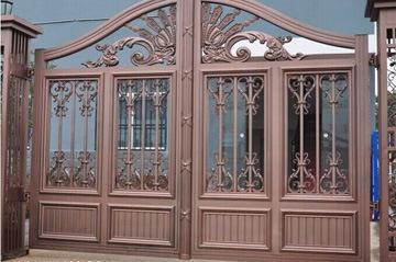 庭院欧式大门驻马店平舆欧式铝艺护栏定制 一博金属