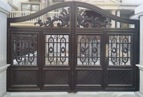 咨询:河南商丘庭院铝艺大门欧式铝艺护栏定制