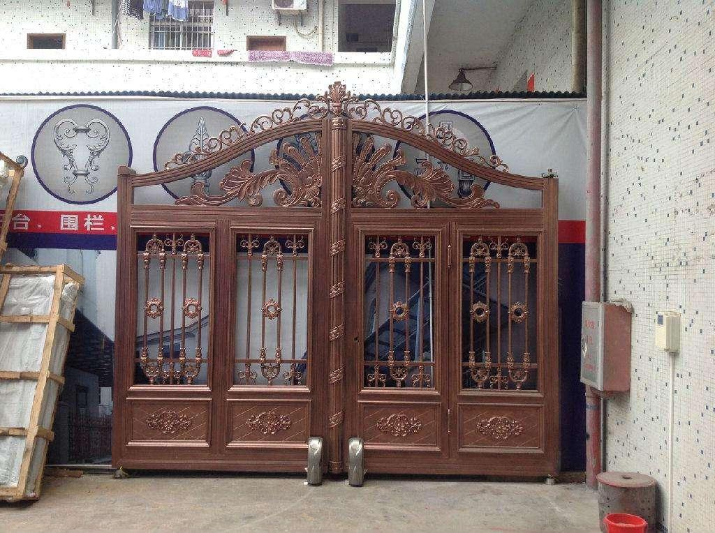 咨询:山西忻州铝合金庭院大门铝合金阳台护栏定做效果图