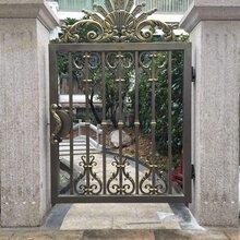 安新县庭院铝艺大门铝合金护栏质量美观大方图片