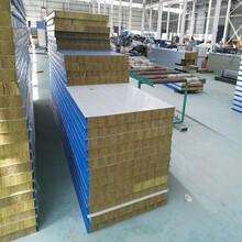 廠家定制巖棉夾芯板各種規格防火巖棉板生產A級防火品質圖片