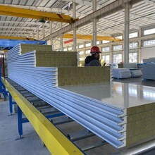 廠家聚氨酯封邊巖棉板PU側封復合板規格加工定制圖片