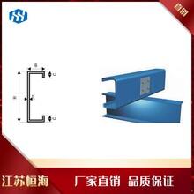 廠家供應鍍鋅C型鋼各種規格C型鋼檁條定制鍍鋅檁條打孔圖片