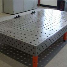 三維平板鑄鐵三維平臺柔性焊接平臺機器人工作臺三維平臺夾具三維柔性焊接平臺圖片