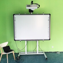 鴻合I583電子白板教學一體機交互式紅外電子白板幼兒園多媒體互動白板濟南現貨圖片