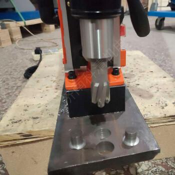 鋼板磁力鉆鐵路行業常用電磁座打孔機磁鐵鉆機1