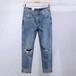 哪里有工廠處理尾貨牛仔褲1至6元批發韓版小腳牛仔褲貨源