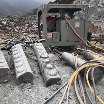 四川省,成都市岩石太硬,而且想要无声开采用什么机械设备好?