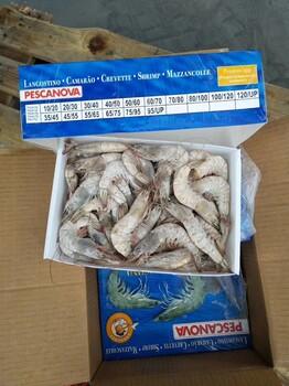正关进口厄瓜多尔白虾,阿根廷红虾,古巴龙虾,三文鱼等冻品海鲜