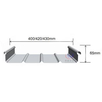 0.8mm厚3003/3004氟碳涂层yx65-330型铝镁锰屋面压型板