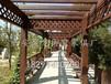 西安仿古廊架,實木廊架,景觀廊架,中式廊架