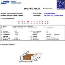 CL10A104KA8NNNC三星贴片电容代理现货芯引力电子0603104k现货