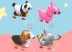 汕頭帶輪子拉線動物充氣玩具銷售