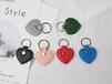 定制品牌牛皮皮革匙扣包時尚歐美簡約經典心形鑰匙扣