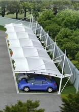 青岛膜结构停车棚安装图片