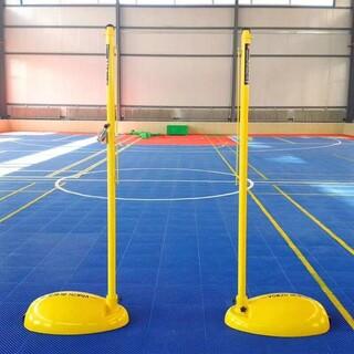 户外移动式羽毛球柱简易便携式支架移动比赛标准可配重羽毛球柱图片2