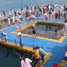 环保高品质塑料浮筒垂钓平台水上娱乐休闲浮台浮桥游艇船码头图片