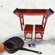 书法桌椅河北衡水学校学生实木国学长条桌制造商图片