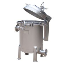 清遠20噸流量單袋式過濾器不銹鋼卡箍式反沖洗過濾器廠家圖片