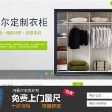 深圳卧室家具公司定制双门实木衣柜储物柜衣橱加盟图片