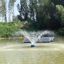 太陽能免插電不銹鋼噴泉曝氣機圖片