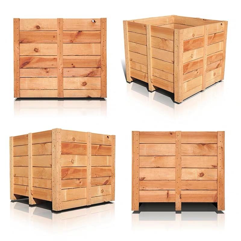 济南铭杰木质包装箱厂家济南钢边箱设备外包装箱围板箱济南框架木箱