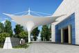 四川广场膜结构景观棚安装