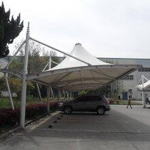 苏州膜结构充电桩停车棚施工图片