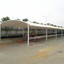 深圳膜结构充电桩停车棚施工厂家安装图片