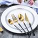 304歐式小蠻腰不銹鋼刀叉甜品蛋糕叉勺鍍金筷子西餐牛排餐具刀叉