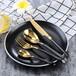 1455系列西餐刀叉勺不銹鋼牛排刀叉鍛打鋼條加厚酒店餐具批發
