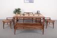 胡桃木现代简约风格中正茶桌五件套