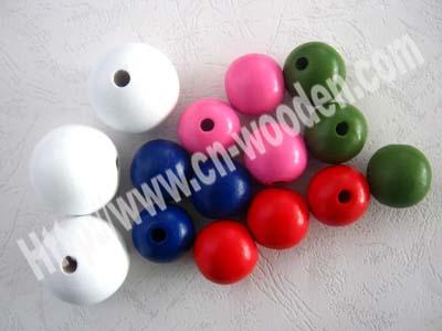 供应彩色木珠木质珠不退色珠小珠珠圆形异形桶形珠天台木珠和昌隆