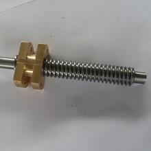供应高强度梯形扣丝杆全螺纹牙条图片