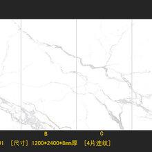 佛山厂家1200x2400岩板大规格陶瓷大板背景墙图片