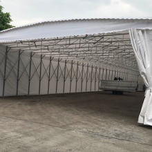 宁波膜结构停车蓬推拉棚大型活动推拉篷移动推拉蓬停车篷雨篷等图片