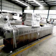 年糕全自动拉伸膜真空包装机520型号包装设备