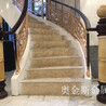 奥金斯设计别墅艺术楼梯扶手满足触觉及世界美感的挑剔