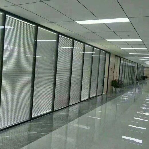 办公室玻璃隔断图