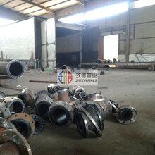 预硫化衬橡胶复合钢管/衬胶管道/衬胶钢管/耐腐蚀性能/优异性能/生产厂家图片