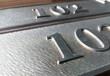 定制高檔鋁板亞克力板浮雕門牌數字門牌酒店包廂門牌科室牌門號牌