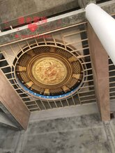 佛堂佛龛吊顶古建筑彩绘吊顶寺庙地宫吊顶天花彩梁图片