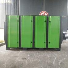 浙江杭州-定制水帘柜,水旋柜+活性炭环保箱废气处理成套设备图片