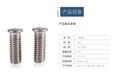 平頭六角拉鉚螺母不銹鋼壓鉚螺柱廠家批發