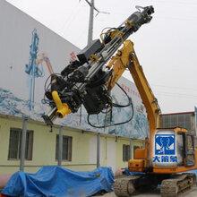 用挖掘机改装的打孔钻孔机械设备图片