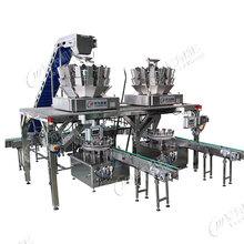 黄桃自动灌装机,瓶装自动固型物称重灌装机厂家直销可定制图片