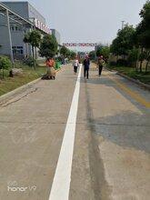 南昌做马路道路热熔标线施工队与冷涂停车位划线施工图片